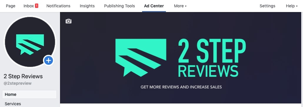 2 step reviews facebook business page