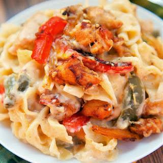 Chicken Fajita Noodle Casserole