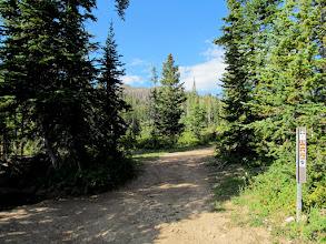 Photo: Beginning of the hike at UM Pass