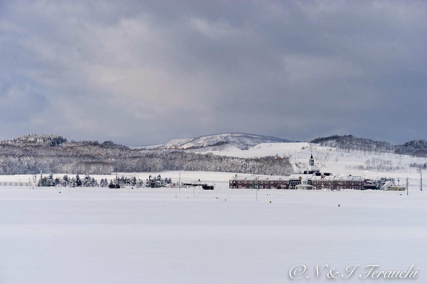 北竜町の白い世界