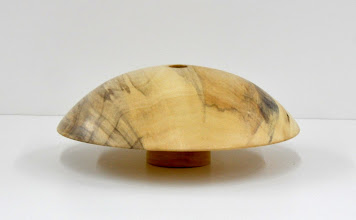 "Photo: Don Van Ryk - Mushroom Bud Vase - 7"" x 2 1/2"" - Spalted Maple or Tulip Poplar"
