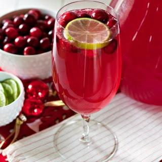 Cranberry Limeade Sparkling Mocktail