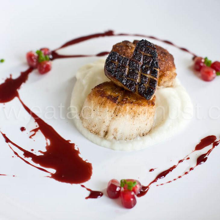 Scallops + Foie