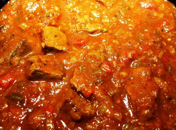 About 1 hour before chili is finished cooking add the beans. Taste and adjust...