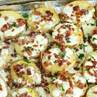 Gorgonzola and Bacon Roasted Potatoes.