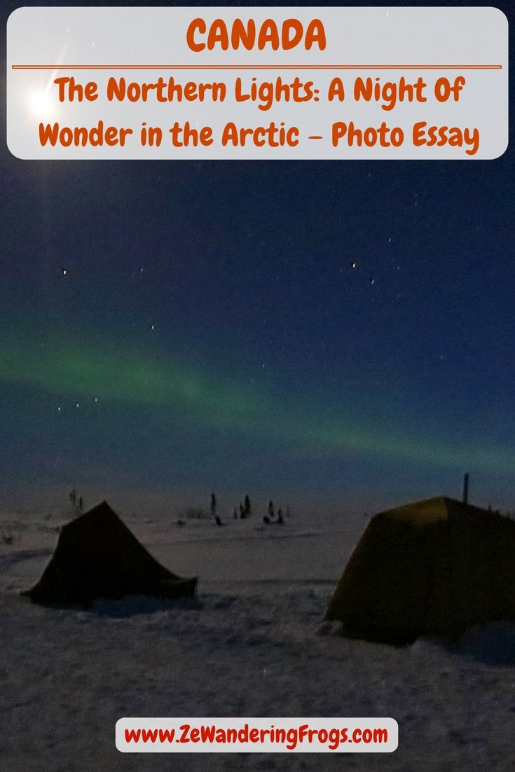 Canada Arctic Winter // Northern Lights Aurora Borealis Winter Camping Pinterest