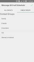 Screenshot of Message & Email Scheduler