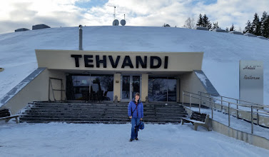 Photo: Saturday 25 February - we left the comfort of the Tehvandi Hotel for an hour's journey to Tartu to register for a ski race