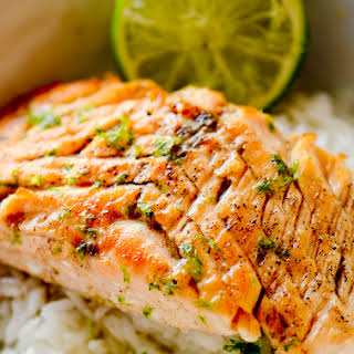 Browned Butter and Lime Salmon.