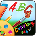 ABC coloring pages icon