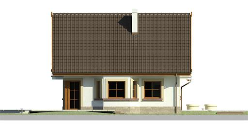 Dom przy Cyprysowej 11 - Elewacja lewa