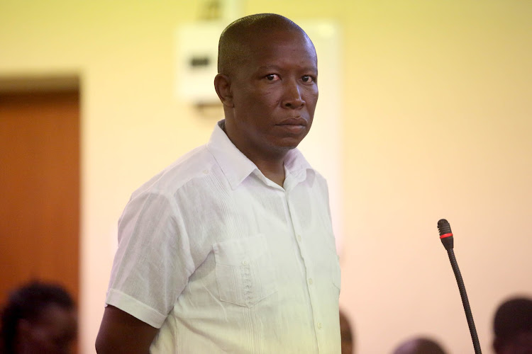 Economic Freedom Fighters commander in chief Julius Malema made a brief appearance in the Newcastle Magistrate's court on Monday, February 25, 2019.