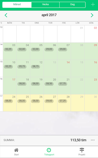 Timekeeper - tidrapportering  screenshots 4