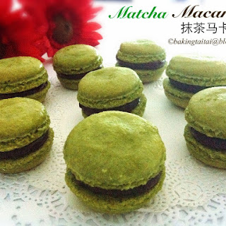 Matcha Macarons with Dark Chocolate Ganache (Pierre Hermes Italian Method) Tutorial