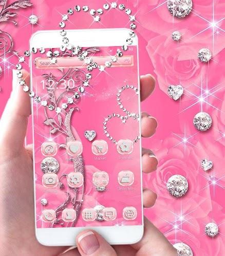 Download Pink Rose Diamond Theme Apk Latest Version App By