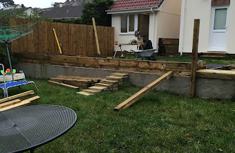 Garden Deck being built