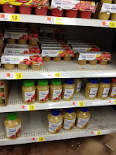 Photo: must have applesauce for the baby girl!
