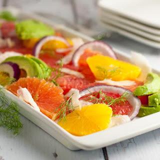 Grapefruit-Orange Avocado Salad with Fennel