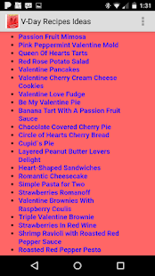 V-day Recipe Ideas for PC-Windows 7,8,10 and Mac apk screenshot 2
