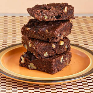 Low-Sugar and Whole Wheat Brownies with Walnuts (Grandma Willey's Brownie Recipe).