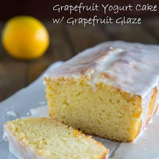 Grapefruit Yogurt Cake with Grapefruit Glaze.