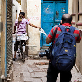 photographer by Santosh Pandey - People Street & Candids ( street, rajesh singh, photographer, varanasi, taking photos, pwc75 )