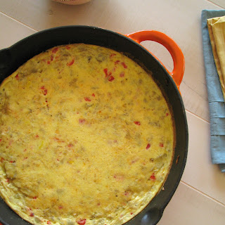 Artichoke and Roasted Red Pepper Frittata