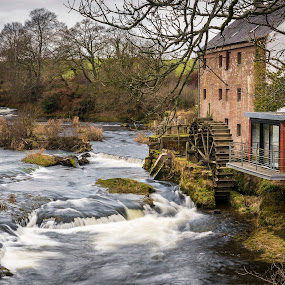 East Cluden Corn Mill by James Johnstone - Buildings & Architecture Public & Historical ( water, mill, wheel, east cluden, corn, river )