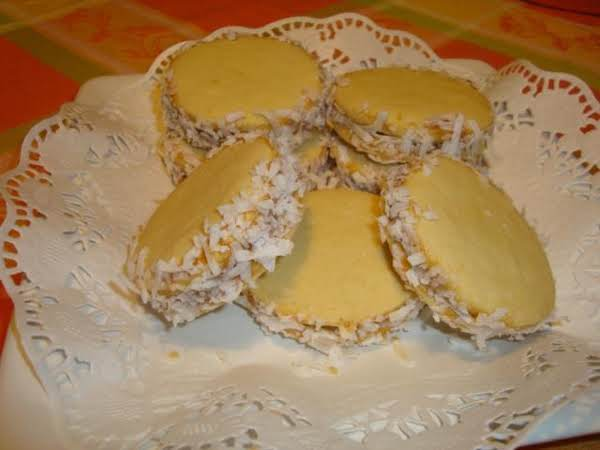 Alfajor Is Like A Cookie Very Popular In South America (specially Uruguay And Argentina -where I Am From-now I'm Live Here Us) It Consists In Two Round Sweet Biscuits Joint To Each Other With Dulce De Leche,both Alfajores And Dulce De Leche Are Very Tasty