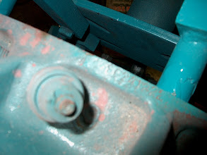 Photo: serial number on the bellhousing flange of the block