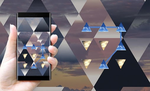 Sky APP Lock Theme Triangle Pin Lock Screen - náhled