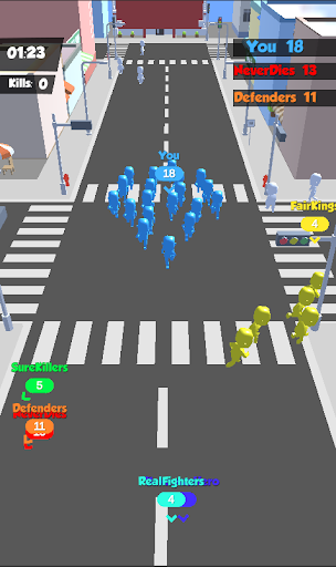 ud83cudfc3Crowd War 3D-Rush City Gamesud83cudfc3 android2mod screenshots 3