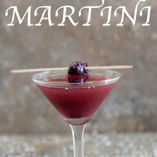 Blackberry Martini With Island Flavors.