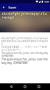 Modern Fonts for FlipFont - náhled