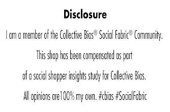 Photo: I am a member of the Collective Bias®  Social Fabric® Community.  This shop has been compensated as part of a social shopper insights study for Collective Bias and their client. #GiveAShot #cbias #shop