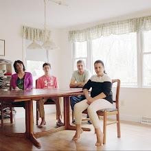 Photo: title:Tanya, Jason, Ben + Sara Roza, Harwich, Massachusetts date: 2016 relationship: friends, met at Hampshire College years known: Tanya 25-30, Jason 0-5