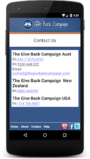 Give Back Campaign- screenshot thumbnail