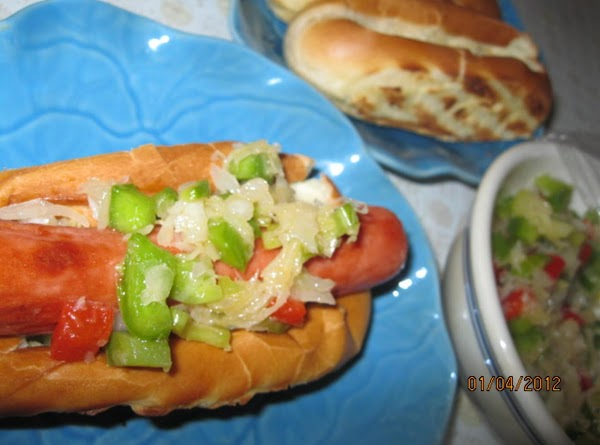 Top a steamed or grilled hot dog with this salad and serve.  It...