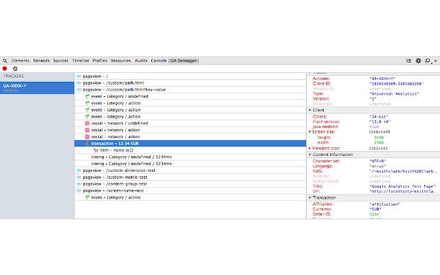 Google Analytics Debugger