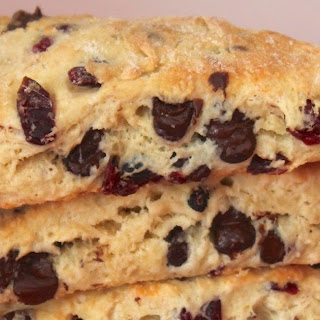 Chocolate chip cherry scones {#FoodBloggerLove}.