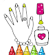 Glitter Nail Drawing Book and Coloring Game APK