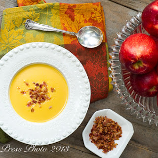 Sweet Potato and SweeTango Apple Soup.