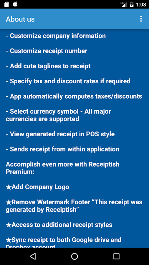Car Rental Invoice Format Receiptish Receipt Maker  Android Apps On Google Play Private Car Sale Receipt Template Free with How Long To Keep Receipts And Bills Word Receiptish Receipt Maker Screenshot Auto Body Invoice Template Excel