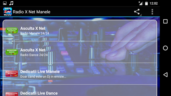 Radio X Net Manele- screenshot thumbnail