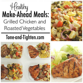 Grilled Chicken and Roasted Vegetables.