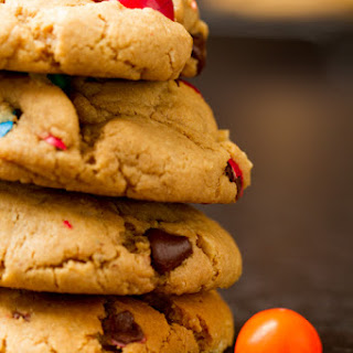 Pretzel M&M Peanut Butter Cookies.