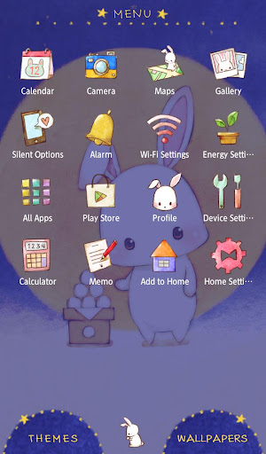 Moon Bunny +HOME Theme 1.0.0 Windows u7528 2