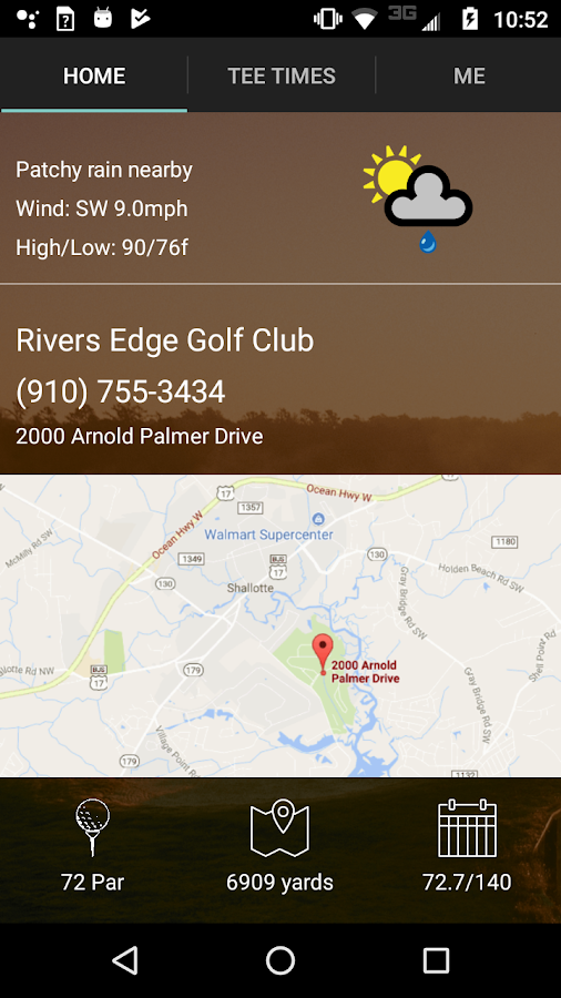 Rivers Edge Golf Tee Times- screenshot