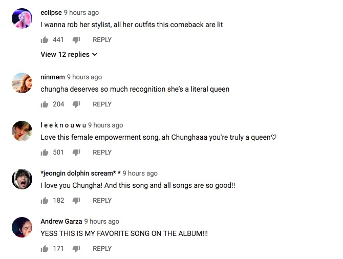 chung ha chica comments