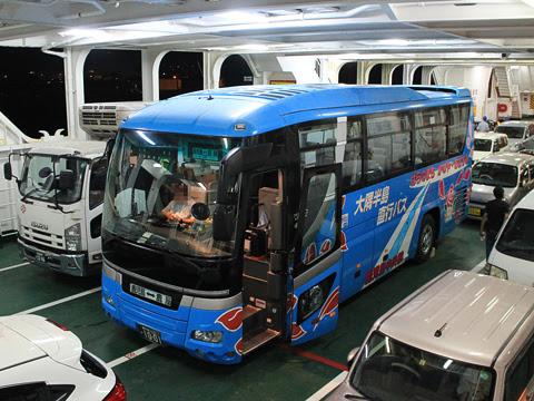 三州自動車「大隅半島直行バス」・1001 垂水フェリー乗船中